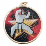 MARTIAL ARTS MEDAL WITH 2 INCH MYLAR