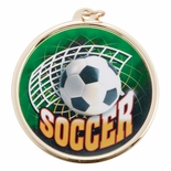 SOCCER MEDAL WITH 2 INCH MYLAR