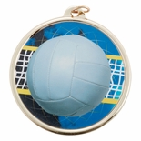 VOLLEYBALL MEDAL WITH 2 INCH MYLAR