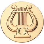 MUSIC LYRE, 2 INCH STAMPED INSERT