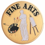 FINE ARTS PAINTING SCULPTURE, 2 INCH ETCHED ENAMELED