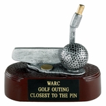 GOLF PUTTER, 4 1/2 INCH RESIN TROPHY