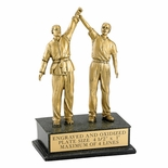 MARTIAL ARTS, MALE, REFEREE, 8 1/2 INCH FIGURE TROPHY