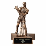 VOLLEYBALL, MALE, 6 1/4 INCH FIGURE TROPHY