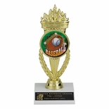 07 INCH TORCH TROPHY, HOLDS MEDALLION INSERT