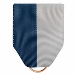PIN BACK RIBBON BLUE AND GRAY