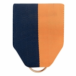 PIN BACK RIBBON NAVY/ORANGE