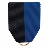 PIN BACK RIBBON BLACK/BLUE