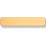 2-1/2 X 1/2 INCH JOINT AND SAFETY CLUTCH PIN SATIN BRASS NAME BADGE