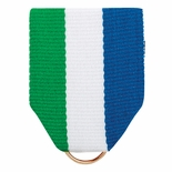 PIN BACK RIBBON GREEN-WHITE-BLUE