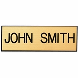 3 X 1 INCH CLUTCH BACK FINDING PIN GOLD PLASTIC NAME BADGE