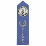 RIBBON HON. MENT. (LIGHT BLUE) WITH 2 INCH  MYLAR
