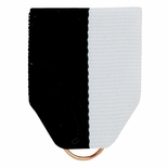 PIN BACK RIBBON BLACK/WHITE