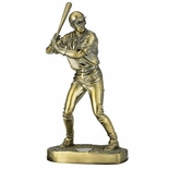 11-3/4 INCH BASEBALL FIGURE, BRASS