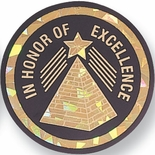 IN HONOR OF EXCELLENCE, 2 INCH MYLAR INSERT
