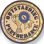 OUTSTANDING PERFORMANCE, 2 INCH MYLAR INSERT