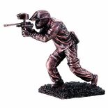 10-1/2 INCH PAINTBALL FIGURE, BRONZE