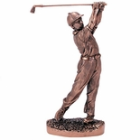 9-1/2 INCH MALE GOLF, ANTIQUE BRONZE