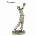 9-1/2 INCH GOLFER MALE, LARGE SILVER TROPHY FIGURE