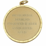 PLAIN MEDAL GOLD SCALLOPED