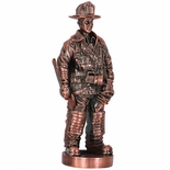 7 INCH FIREMAN FIGURE, ANTIQUE BRONZE