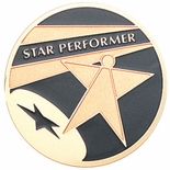 STAR PERFORMER, 2 INCH ETCHED ENAMELED
