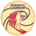 EXCELLENCE IN LEADERSHIP, 2 INCH ETCHED ENAMELED