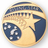 RISING STAR, 2 INCH ETCHED ENAMELED