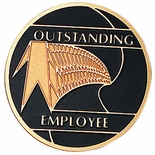 OUTSTANDING EMPLOYEE, 2 INCH ETCHED ENAMELED
