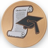 Embossed Color Litho Aluminum Medallion Insert - GRADUATION