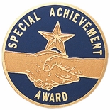SPECIAL ACHIEVEMENT AWARD, 2 INCH ETCHED ENAMELED