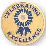 CELEBRATING EXCELLENCE, 2 INCH ETCHED ENAMELED