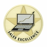 SALES EXCELLENCE, 2 INCH ETCHED ENAMELED