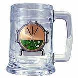 15 OUNCE GLASS TANKARD TAKES 2 INCH INSERT