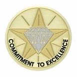 COMMITMENT TO EXCELLENCE, 2 INCH ETCHED ENAMELED