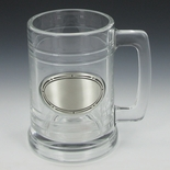 15 OUNCE GLASS TANKARD WITH CASTING