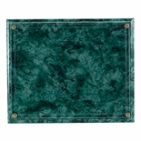 10-1/2X13 GREEN MARBLEIZED PLAQUE HOLDS 8-1/2X11 CERTIFICATE