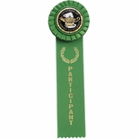 GREEN RIBBON, ROSETTE PARTICIPANT, 2 INCH  MYLAR