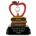 BOOKS ENLIGHTEN THE MIND SCHOLASTIC TROPHY, 5 INCH