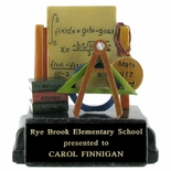 MATH WIZ AWARD SCHOLASTIC TROPHY, 4-1/4 INCH