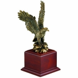 12 INCH BRASS EAGLE ON BASE, WITHOUT PLATE