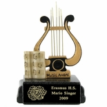MUSIC LYRE SCHOLASTIC TROPHY, 5 INCH