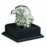 06-1/2 INCH EAGLE HEAD TROPHY, SILVER ELECTROPLATED, WITHOUT PLATE