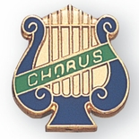 CHORUS PIN MUSIC LYRE