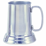 21 OUNCE POLISHED GLASS BOTTOM ALUMINUM TANKARD