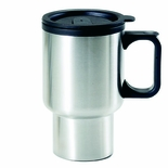 16 OUNCE STAINLESS STEEL TRAVEL MUG