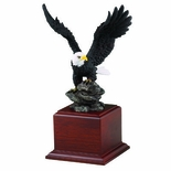 12-1/4 INCH HAND PAINTED EAGLE ON BASE