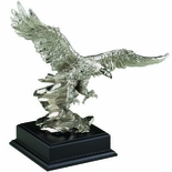 13X16 INCH SILVER EAGLE WITH BLACK BASE