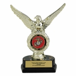 08 INCH EAGLE TROPHY, HOLDS MEDALLION INSERT