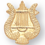 MUSIC LYRE CHENILLE PIN GOLD